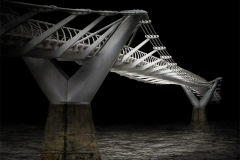 London-millenium-bridge-100x100cm.-100x100cm